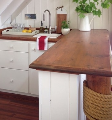 Cottage-Boathouse-Kitchenette-by-Carol-Reed-Interior-Design-Inc 101 Beautiful Beach Cottage Kitchens