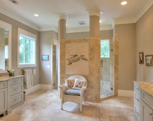 Cumberland-Drive-by-Palmetto-Cabinet-Studio 101 Beach Themed Bathroom Ideas