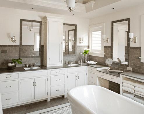 Darien-Beach-House-by-Shelter-Interiors-LLC 101 Beach Themed Bathroom Ideas