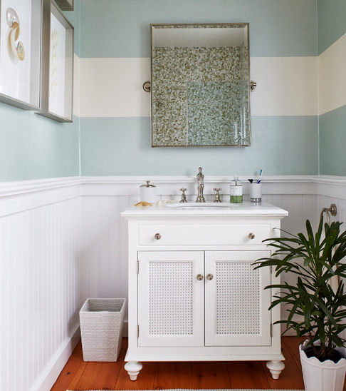 Dynamic-Stripe-2-by-Jules-Duffy-Designs 101 Beach Themed Bathroom Ideas