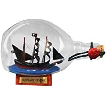 Hampton-Nautical-Blackbeards-Queen-Annes-Revenge-Pirate-Ship-in-a-Bottle Ship In A Bottle Kits and Decor