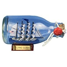 Hampton-Nautical-Flying-Cloud-Ship-in-a-Glass-Bottle Ship In A Bottle Kits and Decor