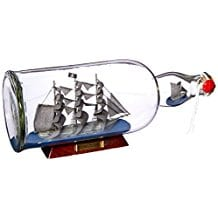 Hampton-Nautical-Flying-Dutchman-Model-Ship-in-a-Glass-Bottle Ship In A Bottle Kits and Decor