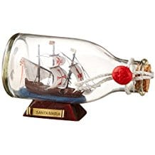 Hampton-Nautical-Santa-Maria-Ship-in-a-Glass-Bottle Ship In A Bottle Kits and Decor
