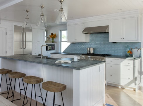 Higgins-Beach-Cottage-Duo-by-Whitten-Architects 101 Beautiful Beach Cottage Kitchens