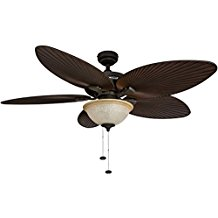 Honeywell-Palm-Island-52-Inch-Tropical-Ceiling-Fan-with-Sunset-Glass-Bowl-Light-127 Best Palm Leaf Ceiling Fans