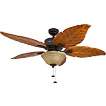 Honeywell-Sabal-Palm-52-Inch-Tropical-Ceiling-Fan-with-Sunset-Bowl-Light-179 Best Palm Leaf Ceiling Fans