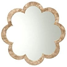 KOUBOO-Flower-Capiz-Seashell-Wall-Mirror Oyster Capiz and Sea Shell Mirrors