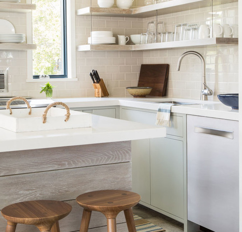 Modern-Beach-Cottage-by-Taste-Design-Inc 101 Beautiful Beach Cottage Kitchens