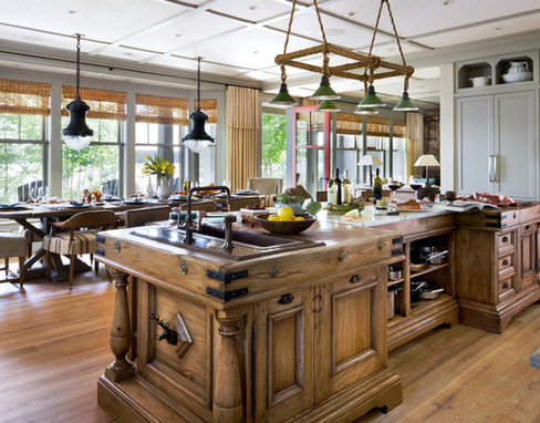 Muskoka-Cottage-2-by-Lisa-Stevens-and-Company-Inc 101 Beautiful Beach Cottage Kitchens