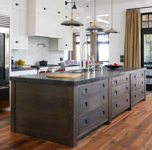Muskoka-Cottage-by-Jennifer-Worts-Design-Inc 101 Beautiful Beach Cottage Kitchens
