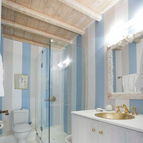Mykonos-Panormos-Villas 101 Beach Themed Bathroom Ideas