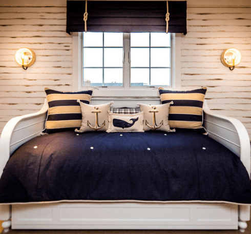 Nautical-Bedroom-2-by-Lawrence-Mayer-Interior-Design 101 Beach Themed Bedroom Ideas