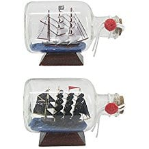 Pirate-Ship-In-Bottle-2-Pieces-Included Ship In A Bottle Kits and Decor