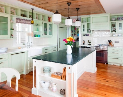 Provincetown-MA-by-Cape-Associates-Inc 101 Beautiful Beach Cottage Kitchens