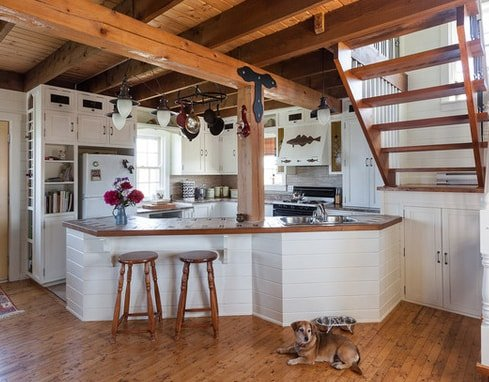Rustic-Summer-Home-in-Heritage-Community-Trinity-by-Becki-Peckham 101 Beautiful Beach Cottage Kitchens