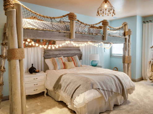 Saddle-River-Home-by-Beth-Interiors 101 Beach Themed Bedroom Ideas