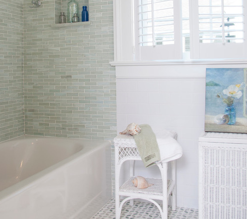 Seafaring-Family-Home-by-Judy-Cook-Interiors-LLC 101 Beach Themed Bathroom Designs