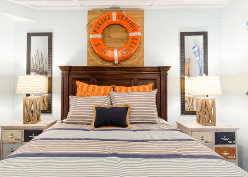 Smith-Mountain-Lake-House-Basement-Bedroom-by-Salomone-Design 101 Beach Themed Bedroom Ideas