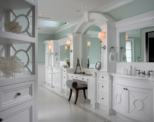 Sophisticated-Key-West-Style-by-Pinto-Designs-and-Associates 101 Beach Themed Bathroom Ideas