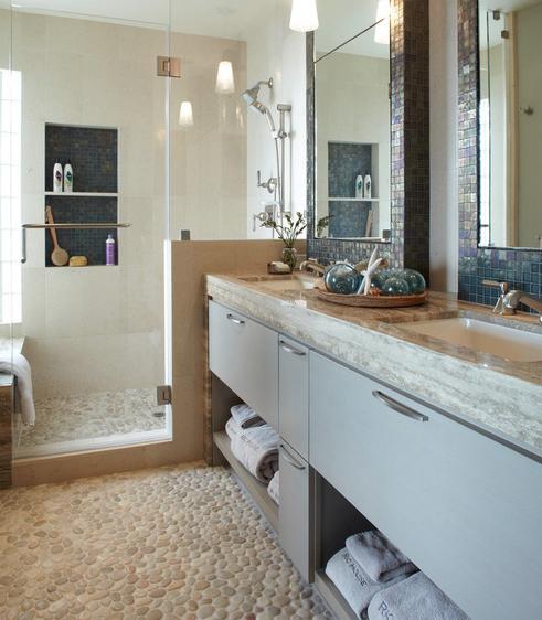 Updated-Beach-House-by-Pamela-Pennington-Studios 101 Beach Themed Bathroom Ideas