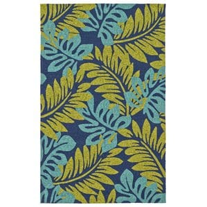 blue-green-palm-leaves-area-rug Outdoor and Indoor Tropical Area Rugs