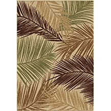 bungalow-palms-area-rug Outdoor and Indoor Tropical Area Rugs