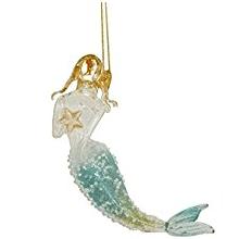 cf-mermaid-seafoam-glitter-ornament Amazing Mermaid Christmas Ornaments