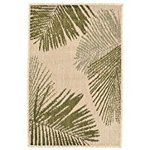 green-indoor-palm-fronds-area-rug Outdoor and Indoor Tropical Area Rugs