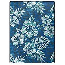 hibiscus-flower-area-rugs Outdoor and Indoor Tropical Area Rugs