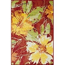 hibiscus-flower-colorful-area-rug Outdoor and Indoor Tropical Area Rugs