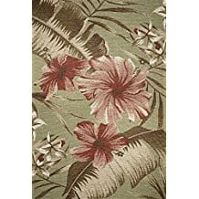 horizon-hibiscus-area-rug Outdoor and Indoor Tropical Area Rugs
