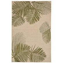 key-largo-palm-fronds-area-rug Outdoor and Indoor Tropical Area Rugs