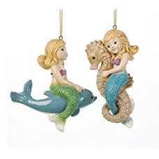 kurt-adler-little-girl-mermaid-ornament Amazing Mermaid Christmas Ornaments