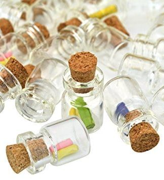 Mini Glass Cork Bottles