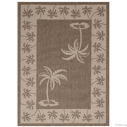 palm-leaf-area-rug Outdoor and Indoor Tropical Area Rugs