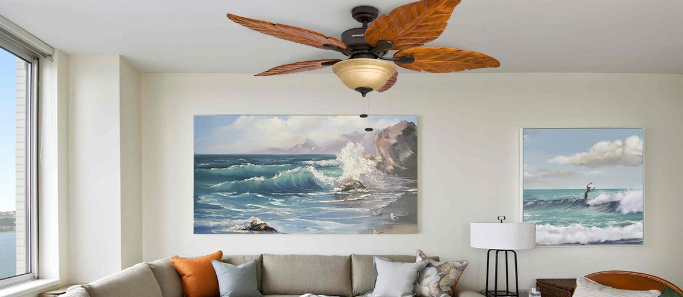 palm leaf ceiling fans