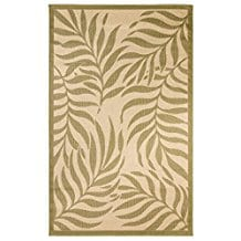 palm-leaves-9x12-area-rug Outdoor and Indoor Tropical Area Rugs
