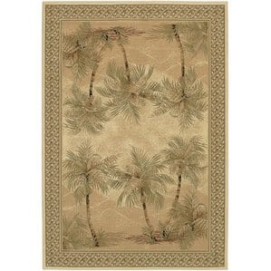 palm-tree-sand-area-rug Outdoor and Indoor Tropical Area Rugs
