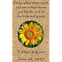 personalized-sunflower-seed-wedding-favors Best Seed Packet Wedding Favors You Can Buy