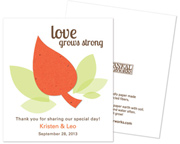plantable-leaf-personalized-wedding-favors Best Seed Packet Wedding Favors You Can Buy