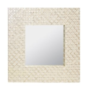 square-capiz-shell-accent-mirror Oyster Capiz and Sea Shell Mirrors