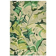 tropical-frond-green-area-rug Outdoor and Indoor Tropical Area Rugs