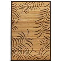 tropical-leaf-bamboo-rug-4x6 Outdoor and Indoor Tropical Area Rugs