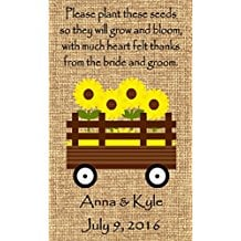 wagon-design-wedding-favor-wildflower-seeds Best Seed Packet Wedding Favors You Can Buy