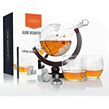 whiskey-decanter-set-with-glass-and-stones Ship In A Bottle Kits and Decor