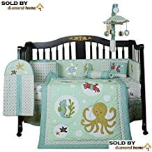 13-Piece-Sea-Animals-Baby-Bedding-Crib-Sets Beach and Nautical Crib Bedding