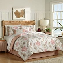 8pc-Coral-Seashell-Starfish-Seashore-Coastal-Beach-Queen-Comforter-Set The Best Nautical Quilts and Nautical Bedding Sets