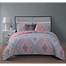 Avondale-Manor-Jada-5-piece-Quilt-Set-King-Coral Coral Bedding Sets and Comforters