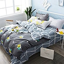 Brandream-Twin-Size-Bed-Sheets-Set-Black-Pineapple-Duvet-Cover Pineapple Bedding Sets and Duvet Covers